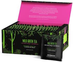 Beyondarie Wild Green Tea with Karbi Ginger and Hibiscus (Tea Pyramids) 50g (Pack of 1)