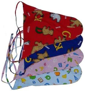 Bhannat Reusable Washable Cloth Mini Diaper (Langot) With Washable Liner (0-5 Months) Set Of 4 Mini Diaper - Small