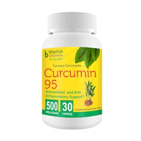 Bhumija Lifesciences Curcumin with Piper Nigram (Curcuma Longa) 30's Capsules -