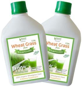 BHUMIJA LIFESCIENCES Plain Wheat Grass Juice (Sugar Free) 1 L (Pack of 2)