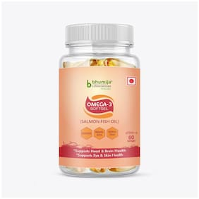 Bhumija Lifesciences Omega-3 with Salmon Fish Oil 1000 mg (Pack of 1)