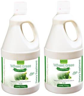 BHUMIJA LIFESCIENCES Wheat Grass Juice (with Aloevera & Amla) Sugar Free 1 L (Pack of 2)