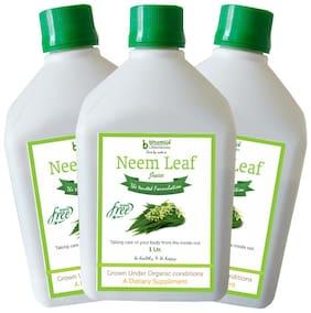 BHUMIJA LIFESCIENCES Neem Juice (Sugar Free) 1 L (Pack of 3)