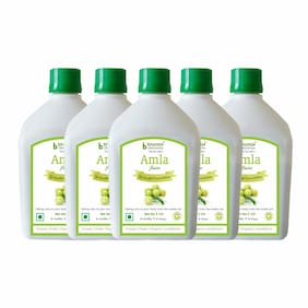 BHUMIJA LIFESCIENCES Amla Juice (Sugar Free) 1 L (Pack of 5) Immunity/Immunity Booster
