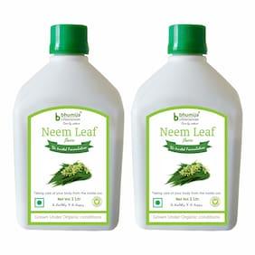 BHUMIJA LIFESCIENCES Neem Juice (Sugar Free) 1 L (Pack of 2)