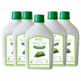 BHUMIJA LIFESCIENCES Neem Juice (Sugar Free) 1 L (Pack of 5)
