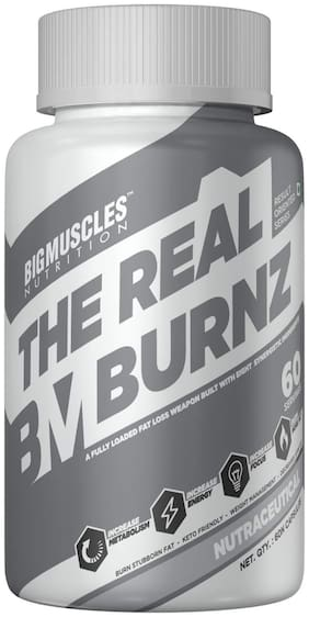 Big Muscle Nutrition The Real Burnz Fast Acting Fat Burner (60 Capsules )