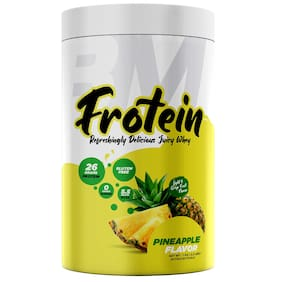 Bigmuscles Nutrition Frotein 26g Refreshing Pineapple Flavored Hydrolysed Whey Protein Isolate (30 Servings, 1 kg)