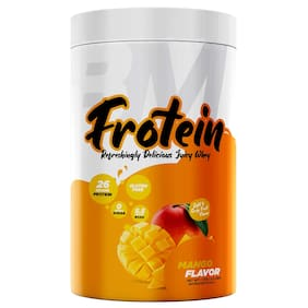 Bigmuscles Nutrition Frotein 26g Refreshing Mango Flavored Hydrolysed Whey Protein Isolate (30 Servings, 1 kg)