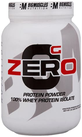 Bigmuscles Nutrition ZERO Protein Powder from 100% WHEY ISOLATE 900 gm ( Strawberry & Banana Twirl)