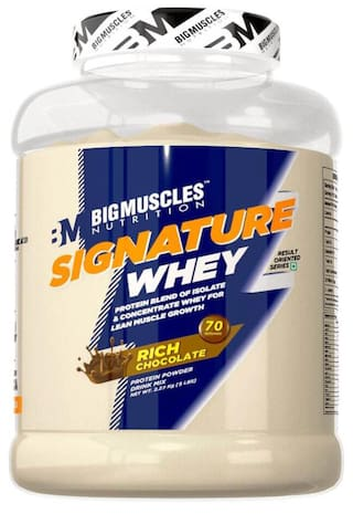 BIG MUSCLES NUTRITION Signature Whey 5lbs (Rich Chocolate) - (Stringer Free)
