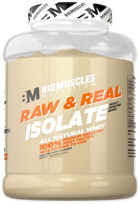 Bigmuscles Nutrition Raw & Real Isolate Whey 2 kg (Unflavoured) - (Stringer Free)