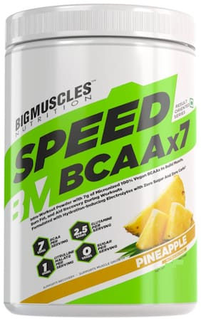 Bigmuscles Nutrition Nutrition Speed BCAAx7 [30 Servings, 360gm] (Pineapple)