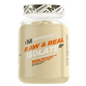 BIG MUSCLES Raw & Real Isolate Whey 2lbs (Unflavoured)
