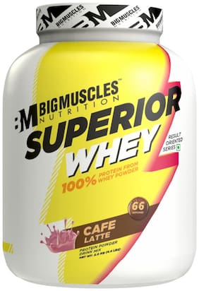 Bigmuscles Nutrition Superior Whey 2kg ( Caffe Latte) - (Stringer Free)