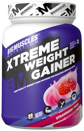 Bigmuscles Nutrition Xtreme Weight Gainer 1 kg (Strawberry)
