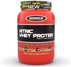 BIG MUSCLES Nitric Whey 900 gm (Rich Chocolate)