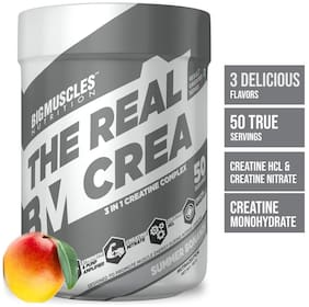 Bigmuscles Nutrition The Real Crea [50 Servings, Summer Bonanza] - Micronized 3 IN 1 Creatine Complex -Creatine Nitrate, Creatine HCL, Creatine Monohydrate