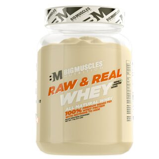 BIG MUSCLES Raw & Real Whey 2.2 lbs ( Unflavoured)