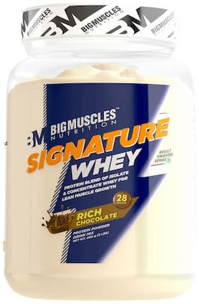 BIG MUSCLES NUTRITION Signature Whey 2lbs (Rich Chocolate) - (Stringer Free)