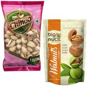Big Nuts California Walnut Inshell 500gm And Chinoo Roasted California Pista 100gm (Pack Of 2)