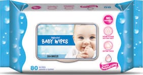 Bigbasket Baby Wipes - Sea Breeze 80 Pcs