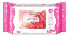 Big Basket Wet Wipes Rose 30 pcs