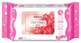 Big Basket Wet Wipes Rose 30 pcs