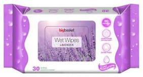 Big Basket Wet Wipes Lavender 30 pcs