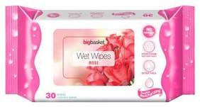 bigbasket Wet Wipes Rose 30 pcs