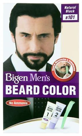Bigen Beard Colour - Black, For Men, (Beard Color B101 20 g + Beard colour 20 g) 40 g