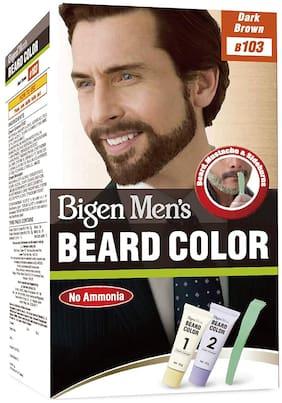 Bigen Men's Beard Colour Dark Brown B103 (Pack of 1) 40g