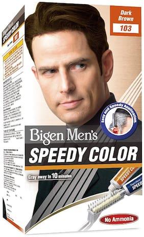 Bigen Mens speedy color Dark Brown 103 (80g) (Pack of 2) 80g each