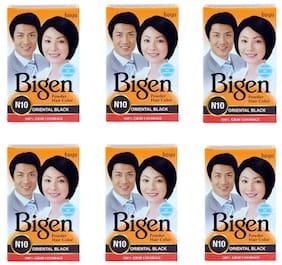 Bigen Powder Hair Color,Oriental Black N10 - Pack of 6 (6g each)