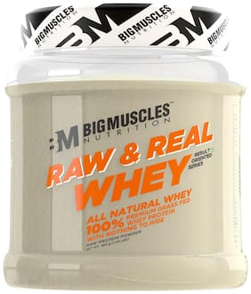 BIGMUSCLES NUTRITION Raw & Real Whey Protein ( Unflavoured 480 g)