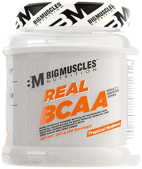 BIGMUSCLES NUTRITION Real BCAA Tropical Madness 50 Serving (250 gm)