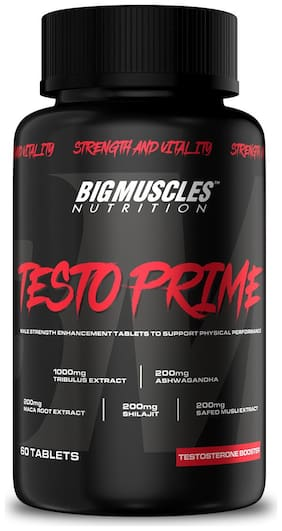 Bigmuscles Nutrition Testo Prime Testosterone Booster Supplement 60 Tablets Pack of 1 (1x60 Tablets)