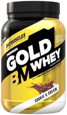 Bigmuscles Nutrition Premium Gold Whey [1 kg , Cookie & Cream]