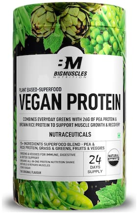 Bigmuscles Nutrition Organic Plant Based Vegan Protein Powder 750 g
