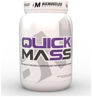 Bigmuscles Nutrition Quick Mass 2.2 lb (Cookie & Cream) - (Stringer Free)