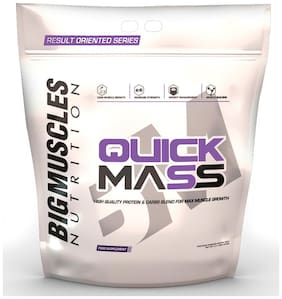 Bigmuscles Nutrition Quick Mass 11 lb (Malt Chocolate) - (Stringer Free)