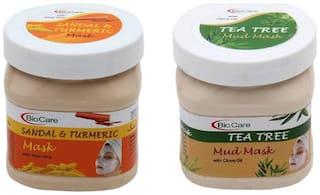 Bio Care Combo of Sandal And Turmeric Mask And Tea Tree Mud Mask (500 ml)