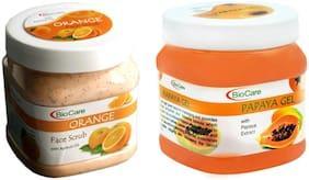 Bio Care Combo of Orange Scrub & Papaya Gel(400 g each) (Pack of 2)