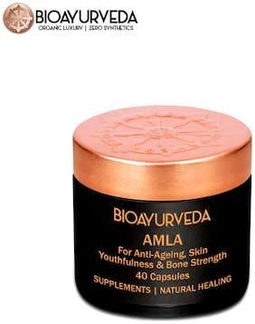 BIOAYURVEDA Amla Has Natural Vitamin C for Immune support USDA Certified Organic/ Vegan/ 40 Capsules