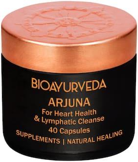 BIOAYURVEDA Arjuna (Terminalia Arjuna) USDA Certified Organic Ayurvedic Pure Vegan Capsules for Cholesterol/ Healthy Heart Function Support and Blood Pressure 40 Capsules