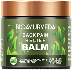 BIOAYURVEDA Organic Back Pain Relief Balm For Fast Relief (120 g)