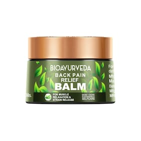 BIOAYURVEDA Organic Back Pain Relief Balm For Fast Relief (40 g)
