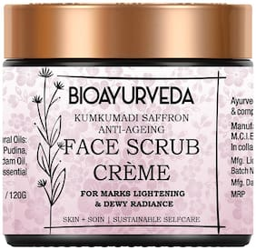 BIOAYURVEDA Kumkumadi Saffron Anti-Ageing Face Scrub Cream120g