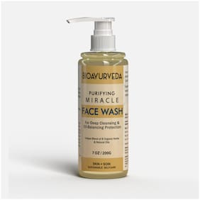 BIOAYURVEDA Purifying Miracle Face Wash For Deep Cleansing And Oil-Balancing Protection (200 ml)