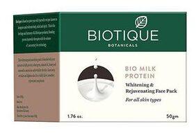 BIOTIQUE Bio Milk Protein - Whitening & Rejuvenating Face Pack For All Skin Types 50 gm
